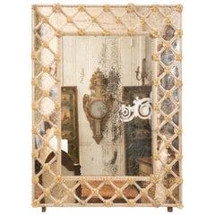 Midcentury Italian Venetian Mirror