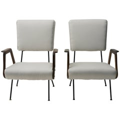 Pair of Vintage Armchairs Italian Production, 1950