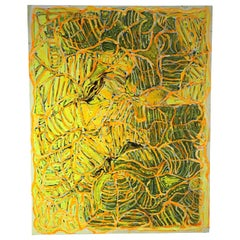 Yellow Contemporary Abstract Painting