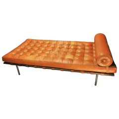 Leather Daybed by Mies Van Der Rohe for Knoll International, 1970s