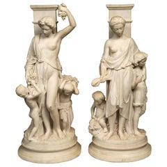 19th Century Continental Fine Pair of Allegorical Groups