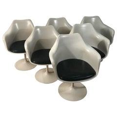 Set of Six Signed Eero Saarinen Tulip Armchairs for Knoll