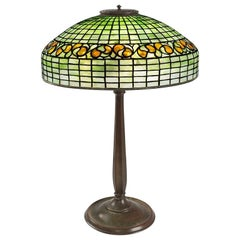 "Tiffany Studios ""Swirling Lemon Leaf"" Table Lamp"