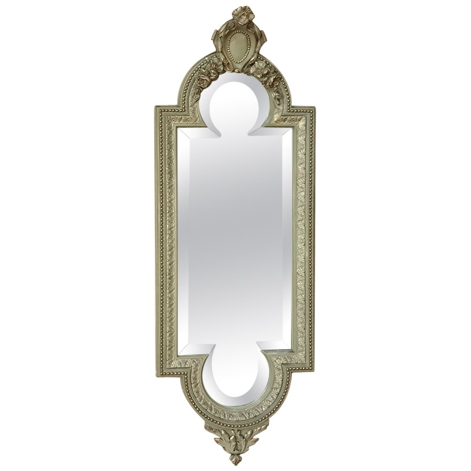 19th Century Italian Louis XVI Painted and Gilded Mirror