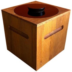 Midcentury Teak Ice Bucket by Morgan Designs