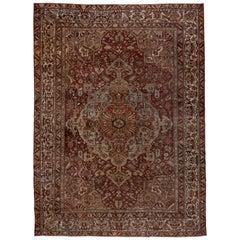 Antique Persian Bakhtiari Carpet, circa 1920s