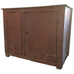 Primitive Painted Cupboard, 19th Century