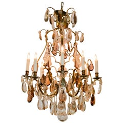 19th Century French Crystal and Amethyst Chandelier