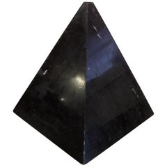 Large Black Marble Decorative Pyramid