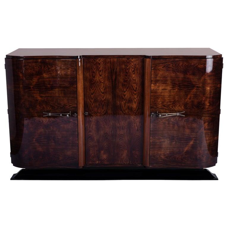 Art Deco Sideboard Credenza in Palisander For Sale