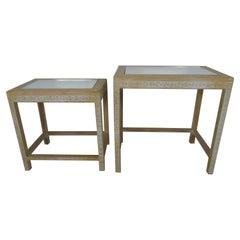 Paar chinesische Holz Schritt Tisch