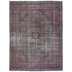 Antiker Distressed Khorassan Teppich circa 1910er Jahre