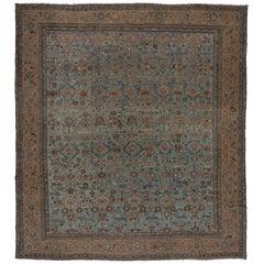 Antique Square Heriz Carpet, Oversized, circa 1900s