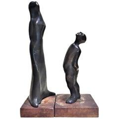 Lynn Davis, Couple, Patinated Bronze Mobile Sculptural Group, circa 1961
