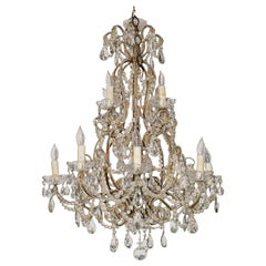 Italian Beaded Crystal Chandelier