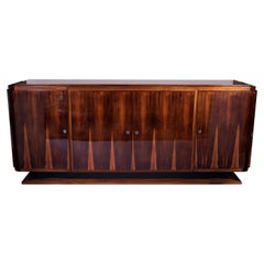 Grand French Art Deco Sideboard Credenza in Palisander