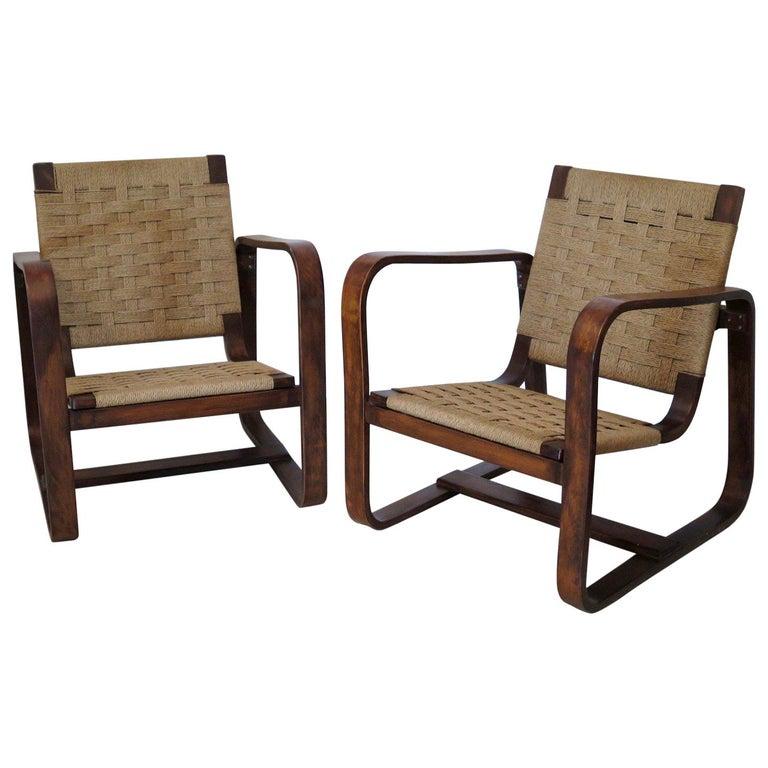 Giuseppe Pagano Pogatschnig e Gino Maggioni 1939-1941 Italian Armchairs For Sale