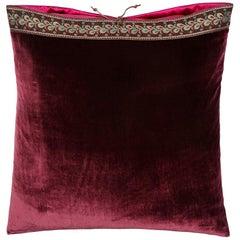 Silk Velvet Throw Pillow Shiraz