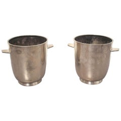 Gio Ponti Silver Plated Champagne Buckets for Fratelli Calderoni