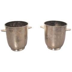 Gio Ponti Italian Silver Plated Champagne Buckets for Fratelli Calderoni, 1950s