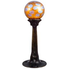 Jugendstil Table Lamp by Loetz, Koloman Moser and Adolf Pohl, circa 1902