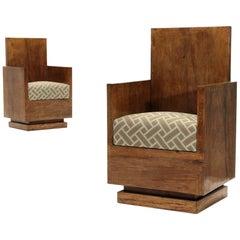 Modernistischer italienischer Sessel, 1930er Jahre, 2er-Set