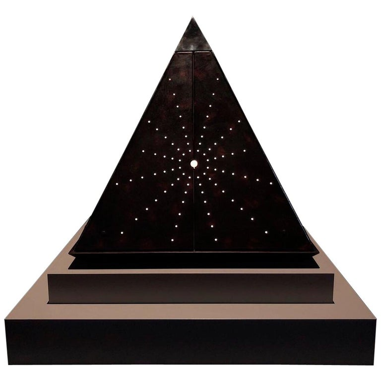 Oscar Tusquets Contemporary Leather Starry Pyramid Limited Edition For Sale