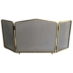 Brass and Grilling Fire Place Screen, French, circa 1970