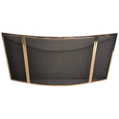 Brass and Grilling Folding Fire Place Screen, French, circa 1970