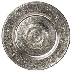 Decorative dish. Pewter. 20th century.