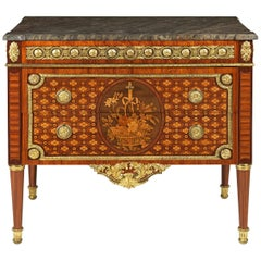 Highly Important Louis XVI Marquetry Commode by RVLC