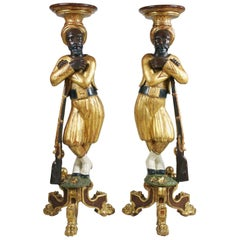 Pair of Torchères in the Form of French Soldiers, circa 1860