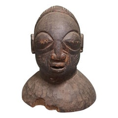 First Half of the 20th Century Yoruba, Nigeria Hand Carved Head Mask