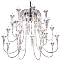 Octopus Chandelier in Pyrex, Baroque Style, Italy