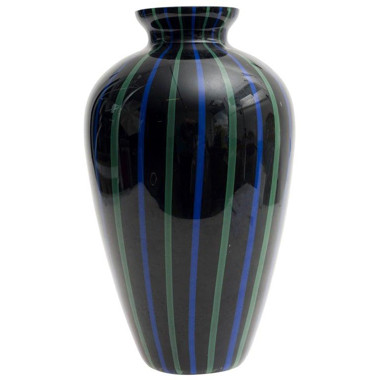 Murano Glass Vase, 1970s For Sale