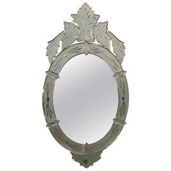 New Oval Venetian Mirror with Crest