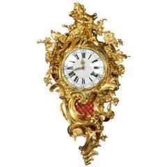 Louis XV Cartel Clock by Jean Pierre Perrache