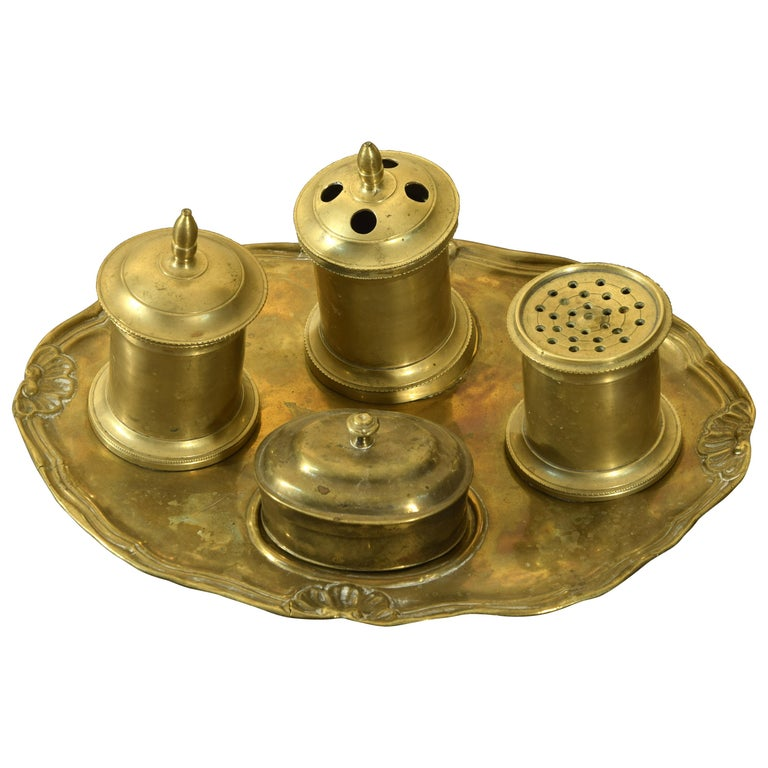Bronze Writing Set, 19th Century For Sale