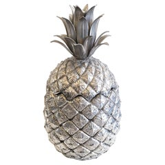 Mid-20th Century Italian Design Pineapple Ice Bucket in Pewter by Mauro Manetti