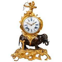 Louis XV Elephant Clock, by Le Foré Paris