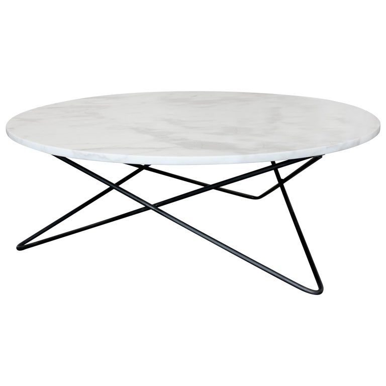 Berlin Round Marble Cocktail Table For Sale