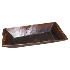 19th Century Hand-Cut Wooden Trough
