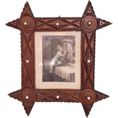 Tramp Art Picture Frame from circa 1900