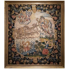 French 18th Century Needlework Tapestry Picture