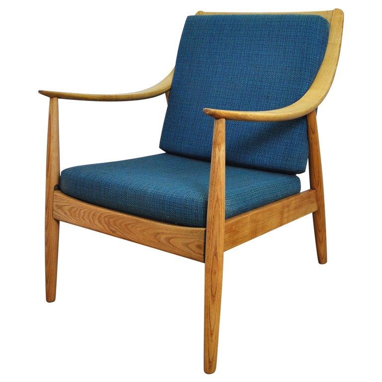 Lounge Chair by Peter Hvidt & Orla Mølgaard-Nielsen, France & Daverkosen, 1950s For Sale