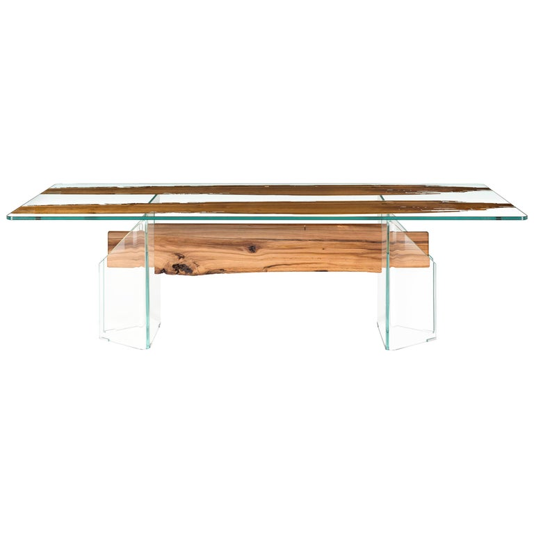Table Venezia, in Glass and Venetian Briccola, Italy For Sale