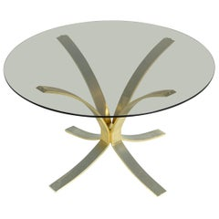 Round Glass Table by Roger Sprunger, 1960s