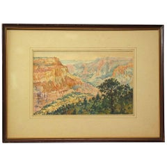 Grand Canyon Watercolor American School, circa 1930