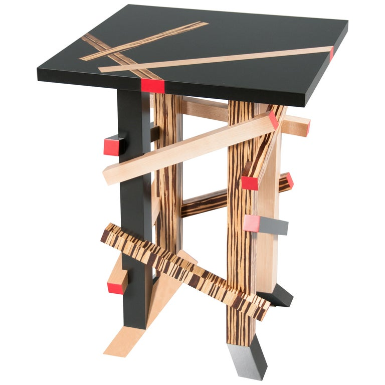 Modernist, Gerrit Rietveld Inspired, Sculptural Occasional or Side Table For Sale
