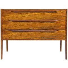 Elegant 1960s Danish Rosewood Bedside Chest by Aksel Kjersgaard
